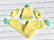 Cheerful Yellow Unisex Winter Set (Limited Offer)