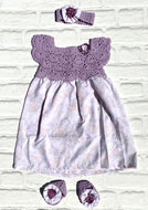 Lilac Crochet Combo Dress Set  (Limited Offer)