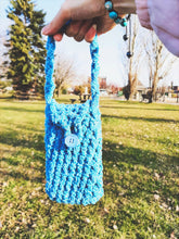 Load image into Gallery viewer, Soft Crochet Phone Cozy/ Pouch with Wristlet