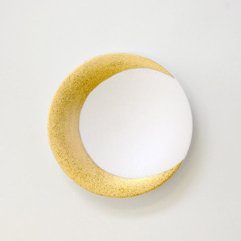 "Gold Painted Porcelain Dish S ""Moon"""