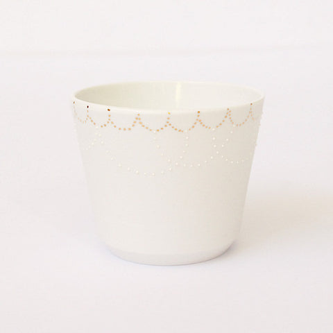 "Gold Painted Porcelain Free Cup ""Tanabata"""