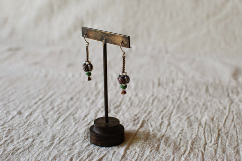 "Kumihimo ""Walnut"" Earrings"