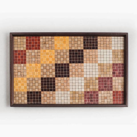 Yosegi Zaiku Wood Parquetry Tray – Rectangle