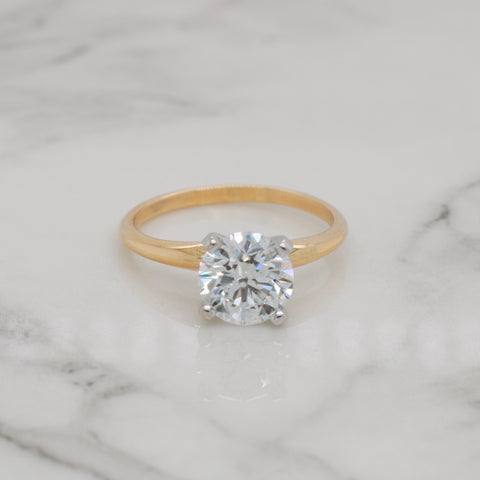 1.5ct Round Engagement Ring