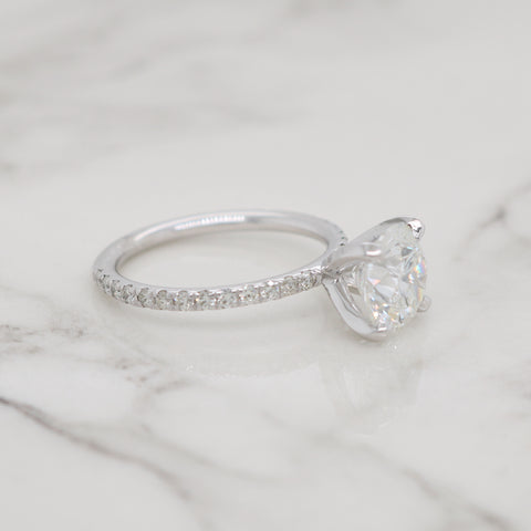 2ct Round Petite Pave Engagement Ring