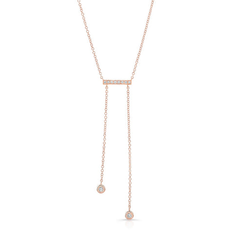 Diamond Bar Dangle Necklace
