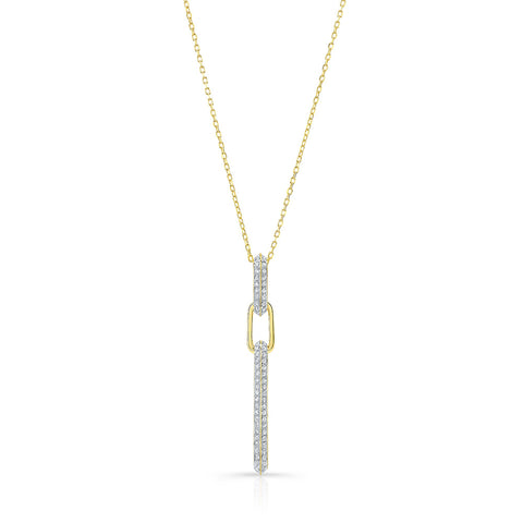 Pave Diamond Link Necklace