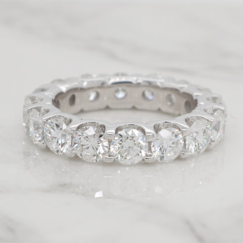 4ct Round Diamond Eternity Band