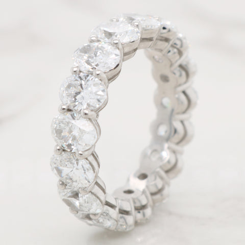 Oval Diamond Eternity Band - 5.50ct