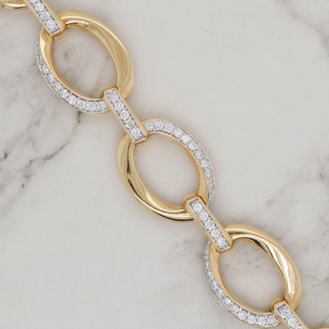 Fancy Oval Diamond Bracelet