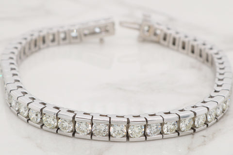 Classic Diamond Channel Bracelet - 8ct