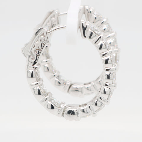 Inside Out Diamond Oval Hoops - 4.00ct