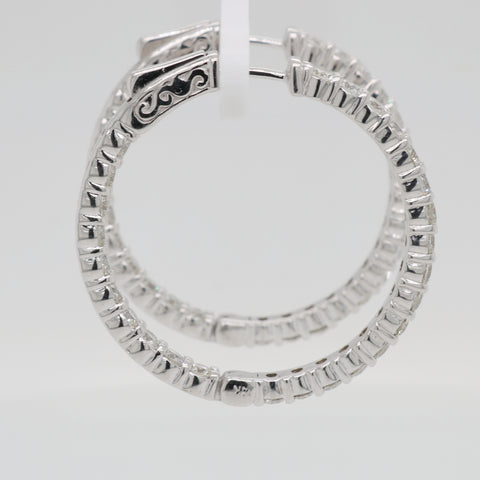 Inside Out Diamond Round Hoops - 3.50ct