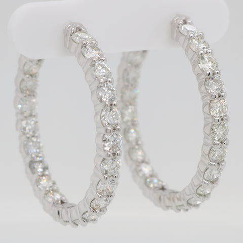 Inside Out Diamond Round Hoops - 5.00ct