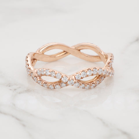 Infinity Eternity Diamond Ring