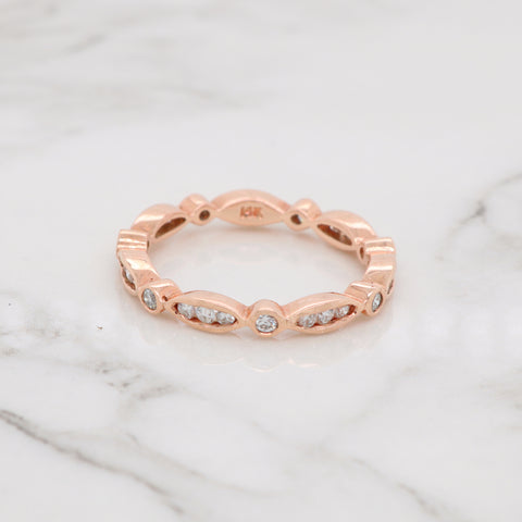 Diamond Bezel Stackable Ring