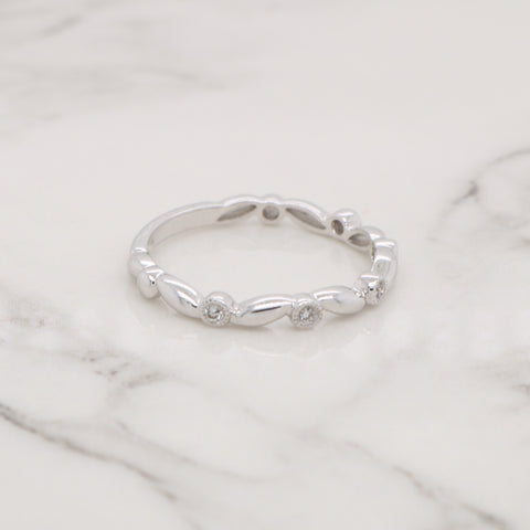 Diamond Twist Stackable Ring