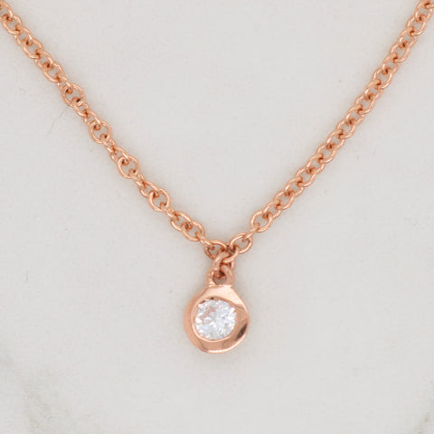 Diamond Bezel Necklace
