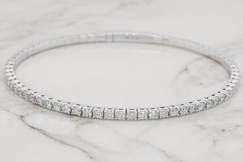Diamond Eternity Flex Bangle - 2ct
