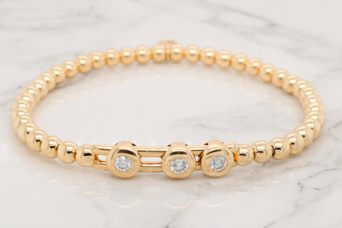 "18Kt ""Flex"" Diamond Bezel Bracelet"