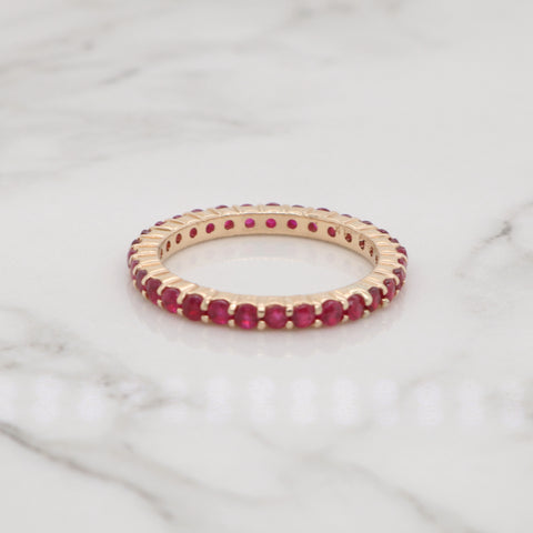 Pave Ruby Eternity Ring
