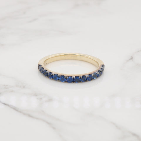Sapphire Pave Ring