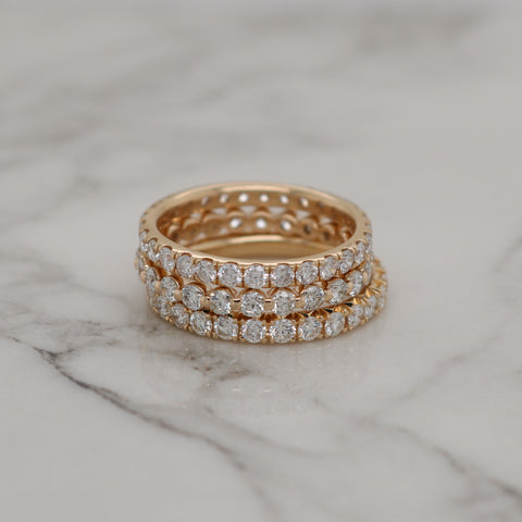 French Pave Diamond Eternity Ring - 1ct