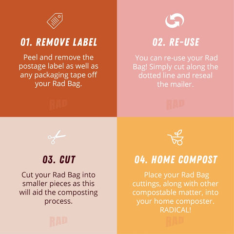 Rad Bag Packaging Infographic