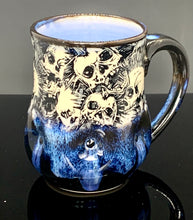 Load image into Gallery viewer, Blue Line Skull Mug 13oz