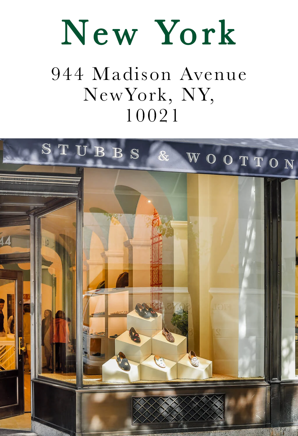 Click for directions to our NY showroom