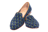 Crescent Navy Women Slipper (SDL)
