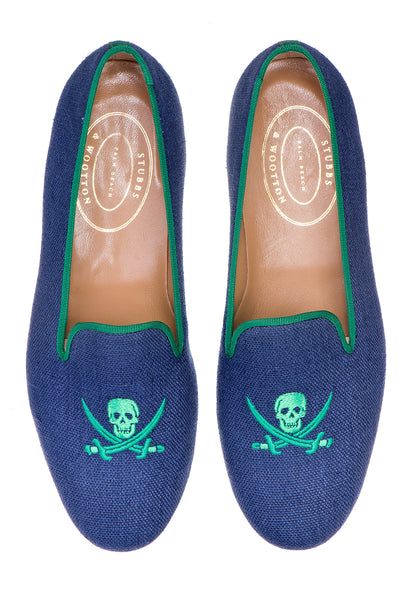 Skull Indigo Women Slipper