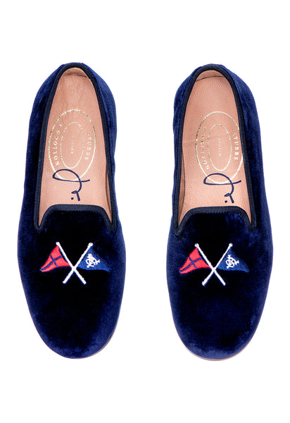 Burgees Navy (Jr.) Slipper - Burgees Navy (Jr.) Slipper