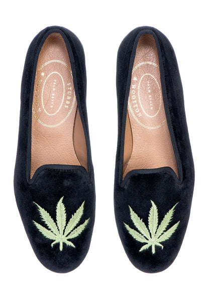 Cannabis Black Men Slipper
