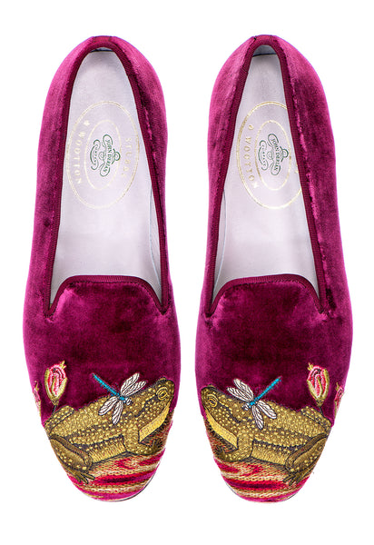 Ribbiting Burgundy (JD) Men Slipper