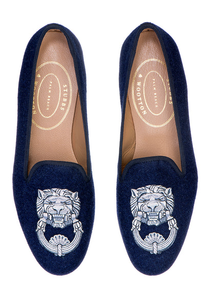 Leon Navy Women Slipper