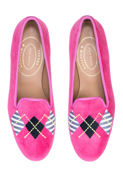 Argyle Fuchsia Women Slipper