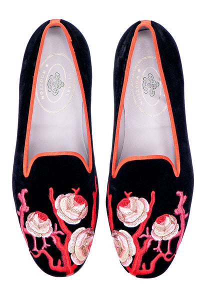 Rosal Black (JD) Women Slipper