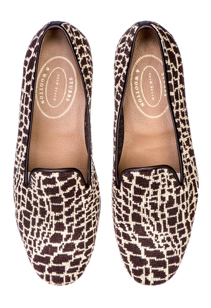 Croc Brown Women Slipper