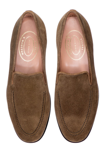 Venetian Split Khaki Men Slipper - Venetian Split Khaki Men Slipper