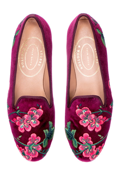 Geraniums Burgundy (P.S) Women Slipper - Geraniums Burgundy (P.S) Women Slipper