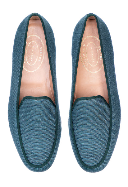 Lux Green Men Linen Slipper