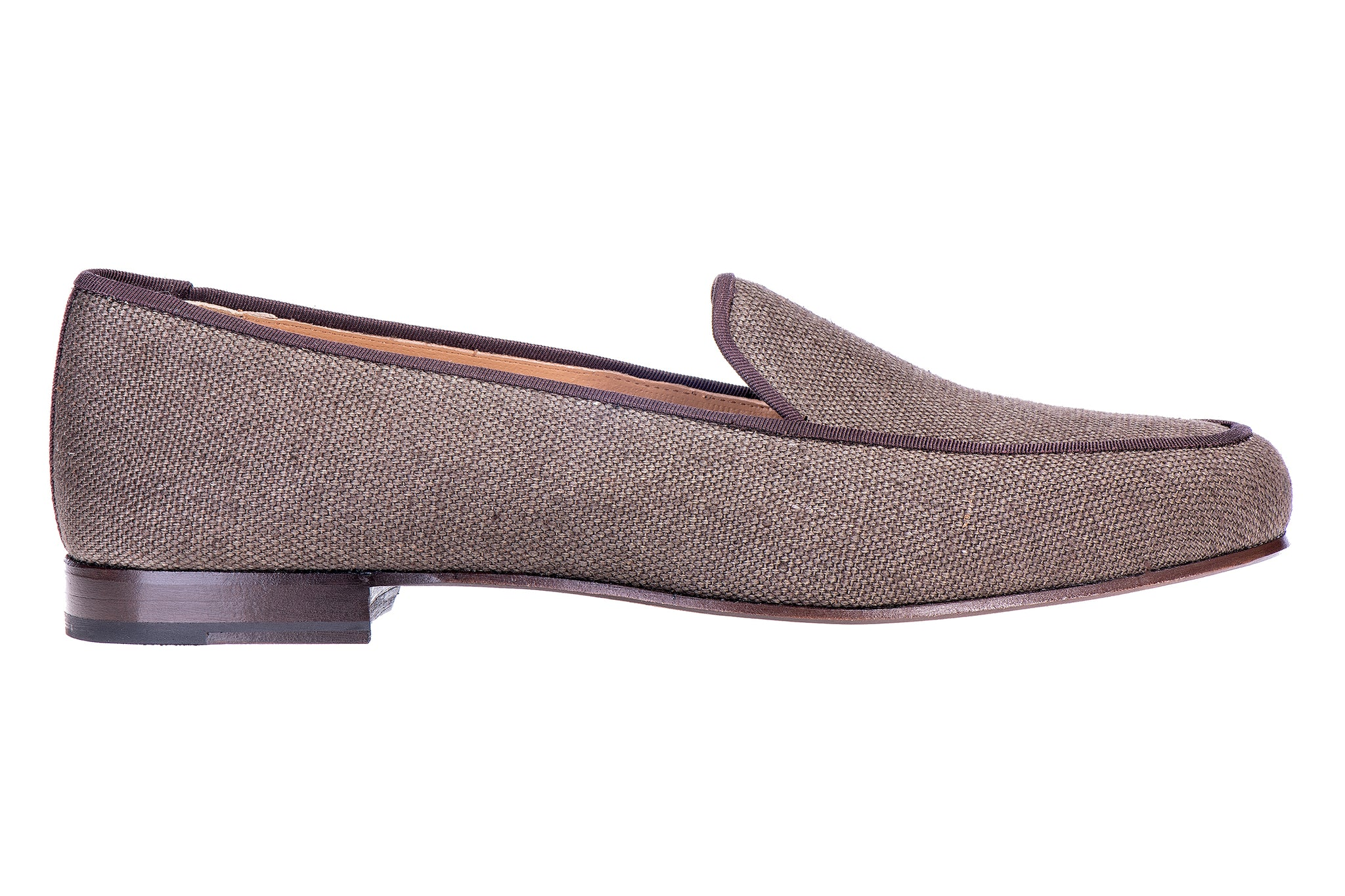 Lux Brown Men Linen Slipper