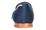 Lines Navy Women Slipper