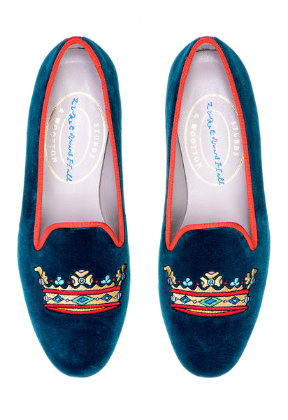 Coronet Teal Women Slipper (LEH) - Coronet Teal Women Slipper (LEH)