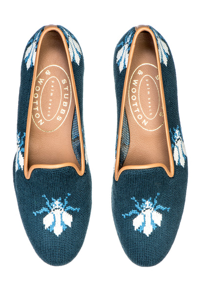 Bee Navy Women Slipper