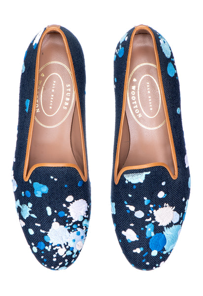 Spatter Navy Women Slipper - Spatter Navy Women Slipper