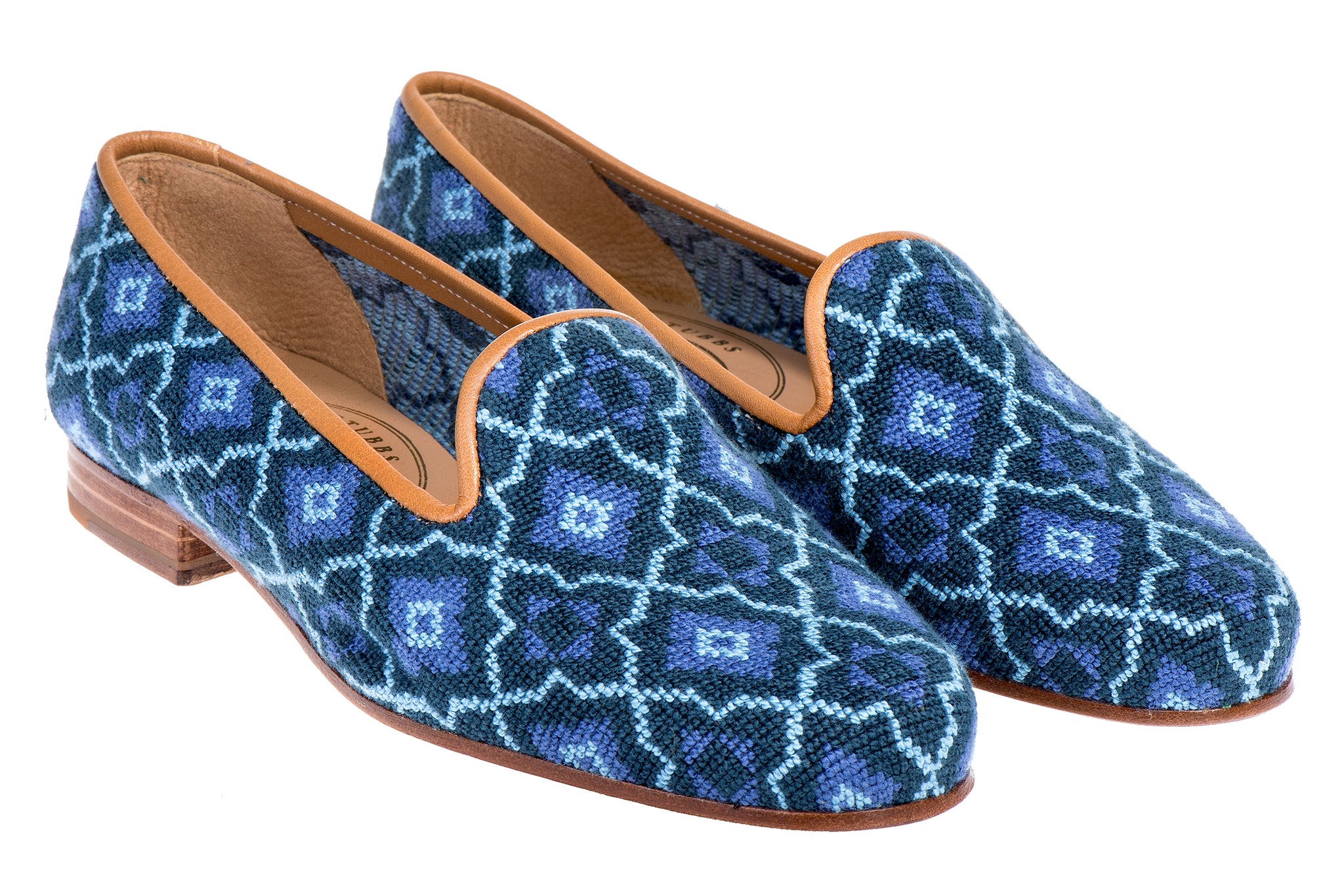 Tile Blue Men Slipper