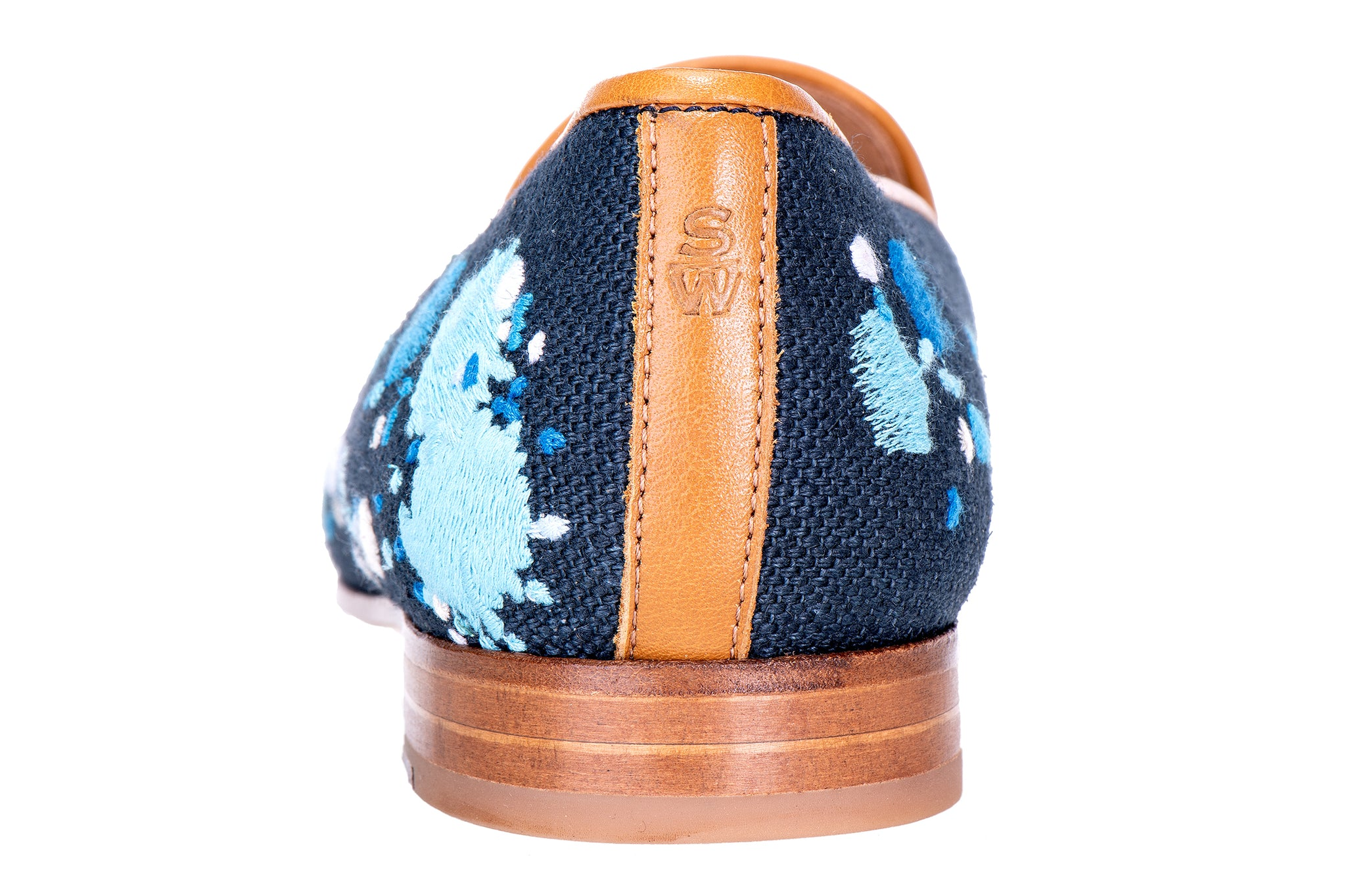 Spatter Navy Women Slipper