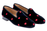 Hearts Black Women Slipper
